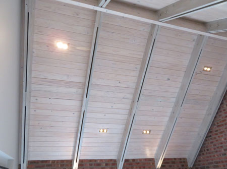 Cape Roof - Exposed Ridge Beam and Double Rafters