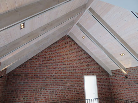 Cape Roof - Exposed Rafters with T and G Ceiling