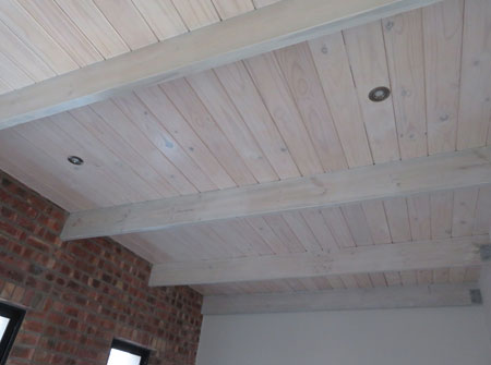Cape Roof - Exposed Flat Roof with T and G Ceiling