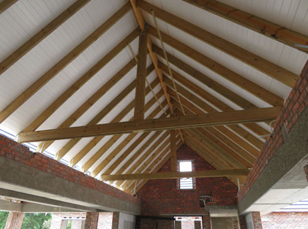 Cape Roof - Isoboard Over Exposed Trusses