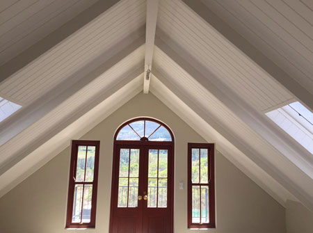 Cape Roof - Ridge Beam and Concealed Fix Rafters