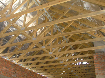 Cape Roof - Gangnail Trusses with Large Span