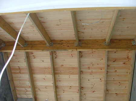 Cape Roof - Ridge Beam and Rafters with T and G Ceiling