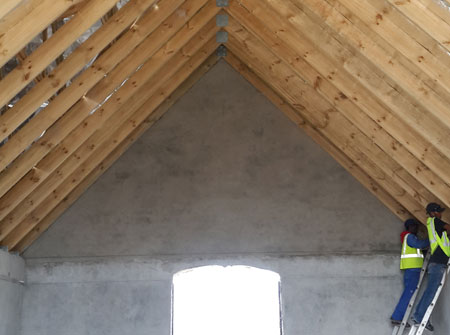 Cape Roof - Pinned rafters