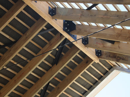 Cape Roof - Specialized Trusses with Bracket Detail